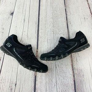 Skechers Black Slip On Sneakers